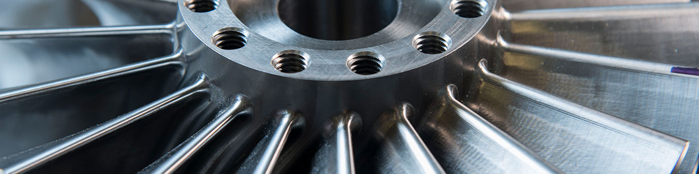 Close up of a Rotoflow turboexpander impeller