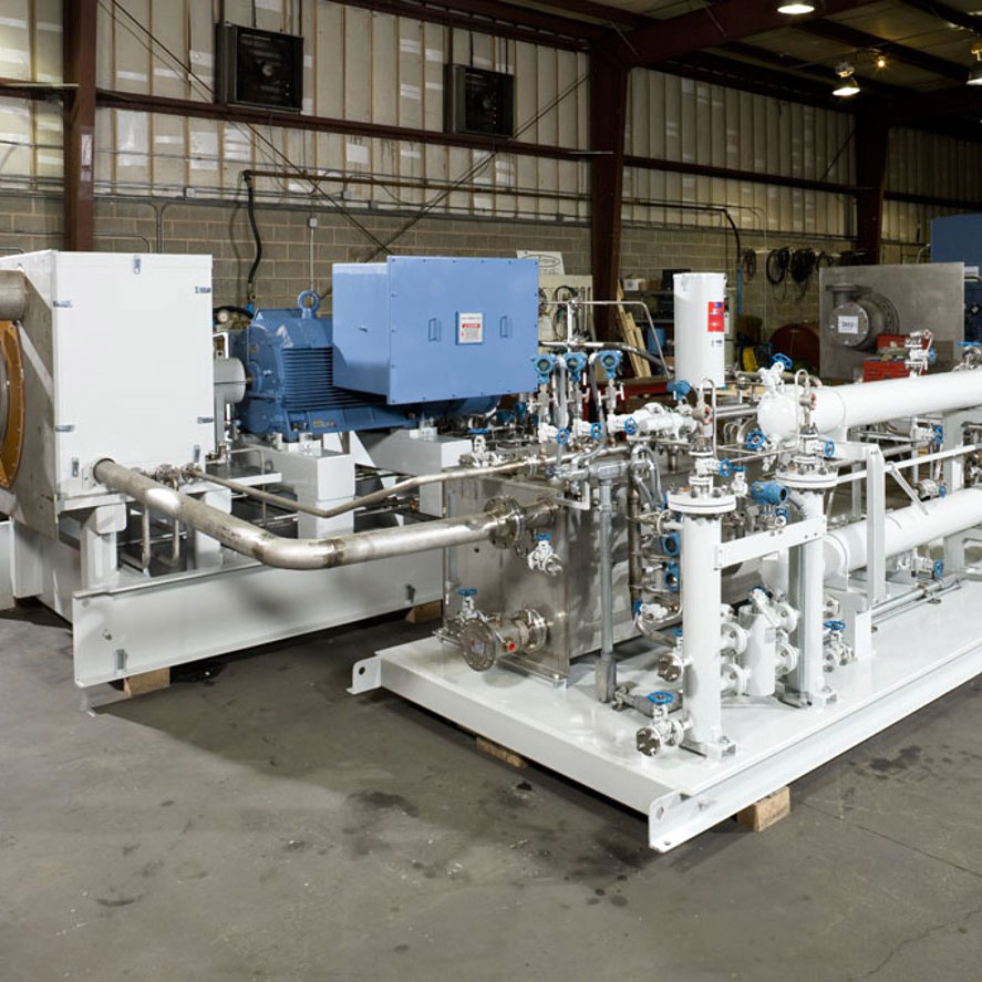 Rotoflow generator-loaded turboexpander used for gas service and dense fluid applications